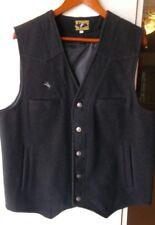 Wyoming Traders Western 100% Virgin Wool Vest  Mens Size  Large  Black  EUC
