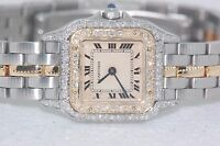 Womens Cartier Panther 18K Gold - Diamonds Everywhere