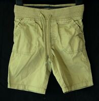 Boys M&S Light Tan Brown Elasticated Ribbed Waist Cotton Shorts Age 2-3 Years