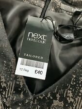 BNWT NEXT Faux Leather  Dress - UK 12 - Stunning Dress