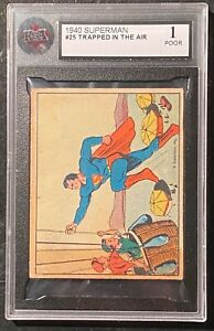 1940 Superman #25 Trapped In The Air KSA 1 POOR !  RARE !
