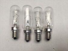 4 x Electrolux Fridge Lamp Light Bulb Globe EBE3800SA EBE4300SA EBE5100SA