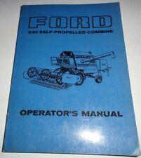 Ford 630 Self-Propelled Combine Operators Owners Manual Original!