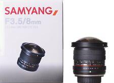 Samyang 8 mm F3.5 Fisheye Objectif UMC CSII Sony E Mount-Ex-demo