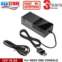 For Microsoft Xbox One Console AC Adapter Brick Charger Power Supply Cord Black
