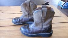 Womens Leather Ariat Fatbaby Boots Size 6 B Cowboy Western Pull On Nice