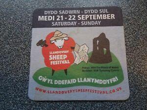 Show a bit more sheep love at Llandovery sheep festival - Black Sheep beer mat