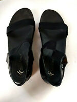 Bare Trap   Womens Shoes Size 9M Slingback Sandals Wedge Black Shoes summer