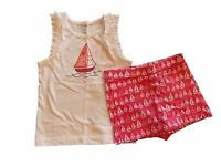 NWT Girl's Gymboree Hop n' Roll sailboat tank top shirt & pink shorts ~ 6