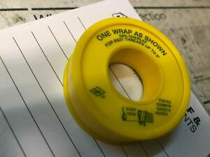 Gas PTFE Tape Yellow Tape BS6974 - GPTFE CHEAPEST ON EBAY.