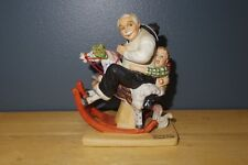 1980 Danbury Mint Norman Rockwell Porcelain Figurine Gramps At The Reins Used/Gc