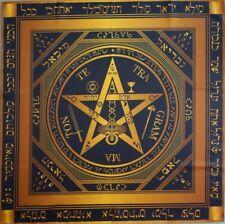 Ceremonial tablecloth Tetragrammaton Pentagram of force Black version