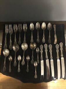 24 RARE SERVING PCS FRANCIS I BY REED & BARTON STERLING SILVER FLATWARE