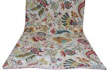 Kantha Quilt Vintage Kantha Bedspread Throw Cotton Blanket Queen size King size