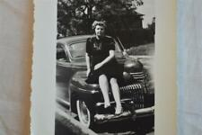 Vintage Car Photos Woman w/ 1941 DeSoto 856