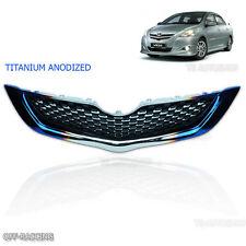 Titanium Anodized Front Grill Grille Net For Toyota Yaris Sedan Vios Belta 06-12