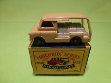 LESNEY MOKO MATCHBOX 29 BEDFORD MILK DELIVERY VAN - RARE - EXCELLENT IN BOX