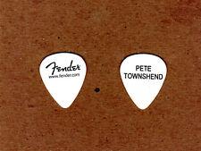 """The Who Pete Townshend White Fender Guitar Pick - """"Quadrophenia """"Tour"""