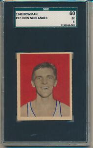 1948 Bowman Basketball John Norlander (#27) SGC60 (5) SGC
