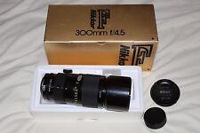 Nikon 300mm f4.5 AI-S Prime Telephoto Lens  Boxed, Excellent Condition