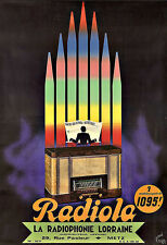 Art Publicitaire RADIOLA radio et télévisions DECO Poster Print