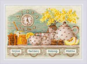 Riolis counted cross stitch kit Teezeit, DIY