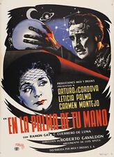 En La Palma De Tu Mano 1951 Mexican Movie Poster Art Graphics by Joseph Renau