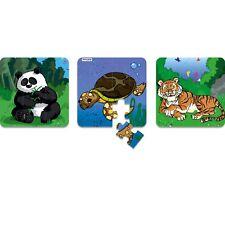 MINILAND 3 Progressive 6 - 12 - 25 piece Puzzle Animals Endangered Species