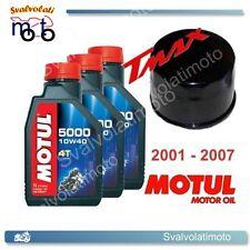 KIT TAGLIANDO YAMAHA T-MAX TMAX 2007 3 LITRI OLIO MOTUL 5000 10W40 + FILTRO OLIO