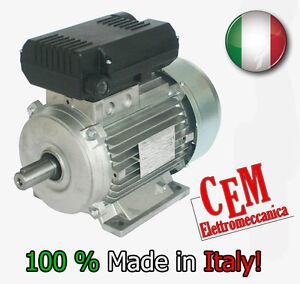 Motore elettrico 3 HP 2,2 kW  2800 giri MEC 90L B3 Mono 220 Volt per compressore