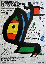 Joan Miro Affiche Originale Lithographie 1978 Abstrait