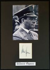 WW2 GERMAN ALBERT SPEER AUTOGRAPH HAND SIGNED ORIGINAL INK
