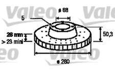 VALEO Juego de 2 discos freno Antes 280mm ventilado VOLVO V70 S70 850 C70 186526