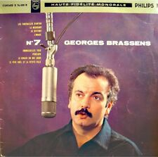 ++GEORGES BRASSENS 7 funérailles d'antan/pénélope/bistrot LP25cm Philips VG++