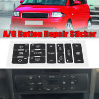 Reparatursatz Ersatz Aufkleber Aufkleberset Knopf A/C für Audi A2/ A3 8L A/C Neu