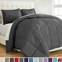 GOOSE DOWN ALTERNATIVE SUPERSOFT LUXURY COMFORTER KING QUEEN MULTI COLORS MX