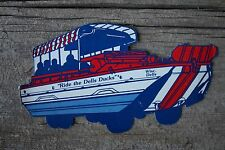 Ride the Dells Duck Tours Die Cut Unused Wisconsin Postcard Tour Bus Boat Lake