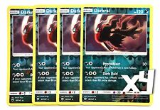 Pokemon, S&M, Burning Shadows, 4X, Darkrai 87/147, Reverse Holo, New, Mint