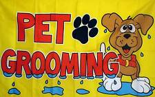 Pet Grooming Flag 3' X 5' Indoor Outdoor Multi-Color Business Banner