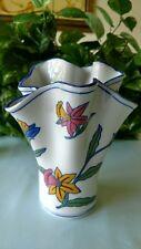 "AAA Imports handkerchief iris porcelain vase 8.25"" high"