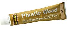 2 x Rustins Plastic Wood Oak Filler Tube Repair Fix Fills Cracks Gaps Holes 30g