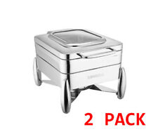 More details for 2 x sunnex verona 4.5l electric chafing dish food warmer buffet ware 1/2 size