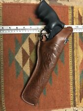 "FITS Ruger Redhawk 7.5"" Barrel Tanned Leather Field Holster w/ Floral Scroll"