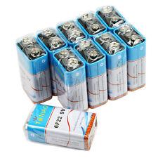 10 PCS 9V 6F22 9 Volts Heavy Duty Battery 0% Mercury