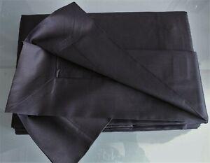 "Frette ""Rainbow Top"" Duvet Set Dark Grey 100% Cotton Superking Made in Italy"