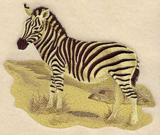 Embroidered Long-Sleeved T-Shirt - Sepia Zebra E4295