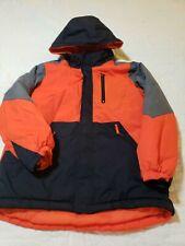 The Children's Place Winter Jacket Boys Large 10/12 Orange Black Gray Puffer