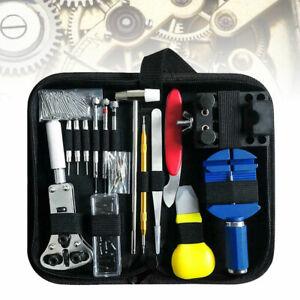 147Pcs Watch Repair Back Case Pin Link Spring Strap Remover Opener Tool Kit Set