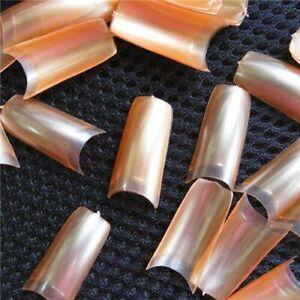 500 Pcs French Style Nail Art Tips Pearl Pearly Color False Acrylic Nails UV Gel