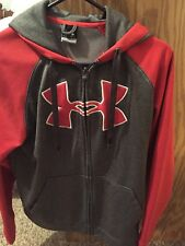 Red And Gray Under Armour Zip Up Hoodie